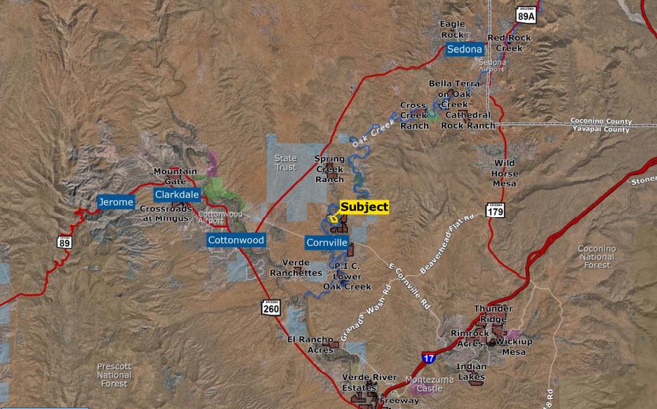 D K ranch map