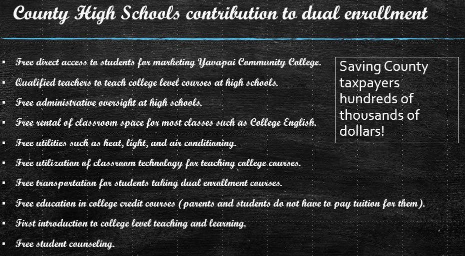 DUAL ENROLLMENT HIGH SCHOOL CONTRIBUTIONS