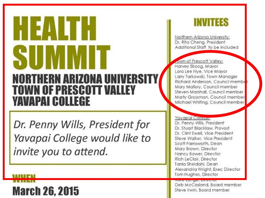 HEALTH SUMMIT INVITATION WITH LINES
