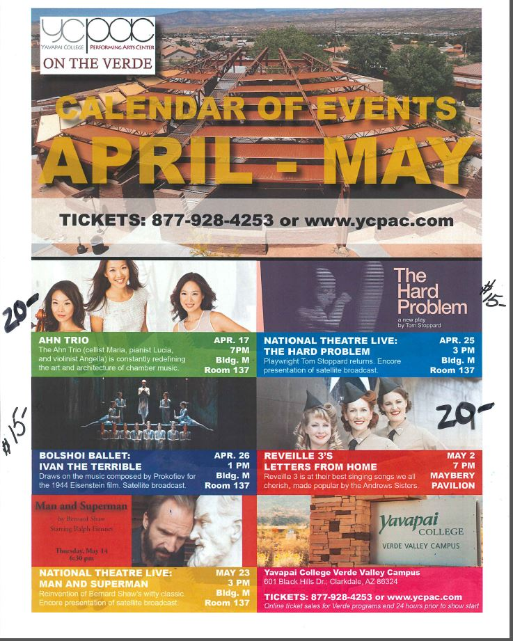 Calendar of Events Flyer May Calendar of Events