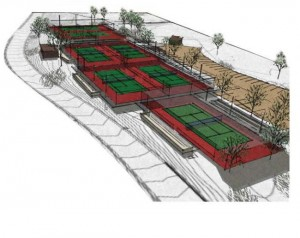 New tennis court on Prescott campus