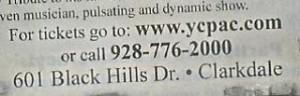 mond cencert newspaper advertisement